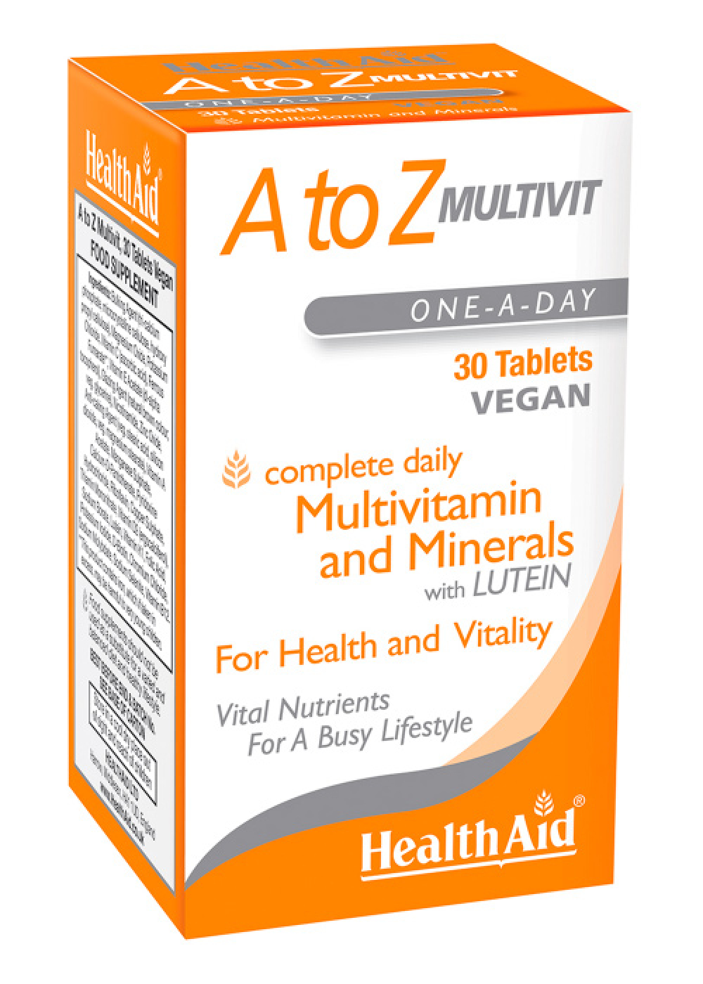 HealthAid  A to Z Multivit 30 Tabletten (vegan)