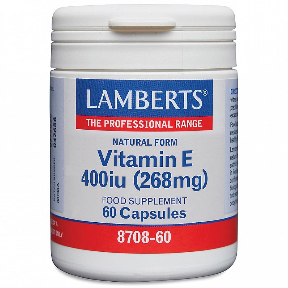 Lamberts Healthcare Ltd. Natural Form Vitamin E 400iu 60 Softgels