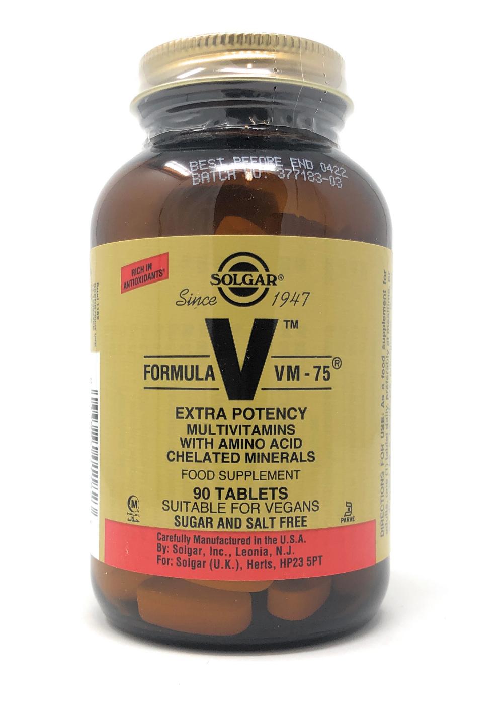 Solgar Formula VM-75 90 Tabletten (vegan)