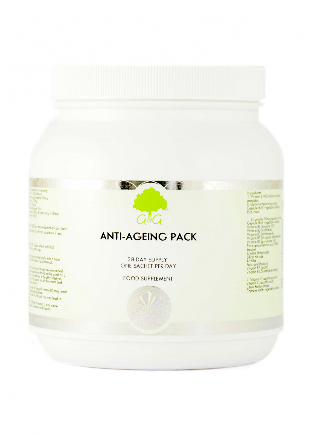 G&G Vitamins 28 Day Anti Ageing Supplement Pack 28 Tagesportionen
