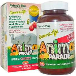 Natures Plus Source of Life® Animal Parade® Multivitamin Kirsch-Geschmack 180 Kautabletten (324,1g)