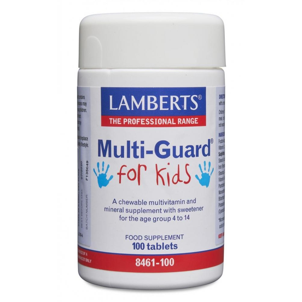 Lamberts Healthcare Multi-Guard for Kids (Kinder-Multivitamin) 100 Kautabletten