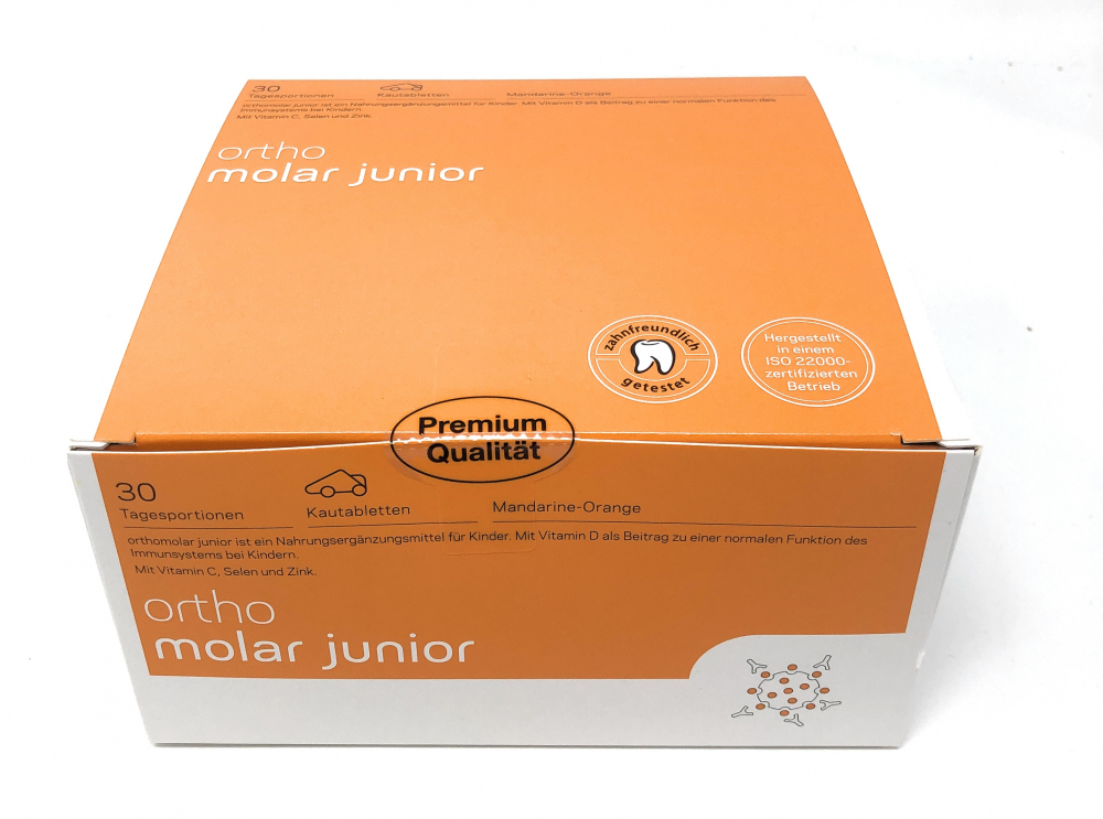 orthomed orthomolar®junior (Mandarine-Orange) 30 Tagesportionen (30x1,35g = 40,5g)