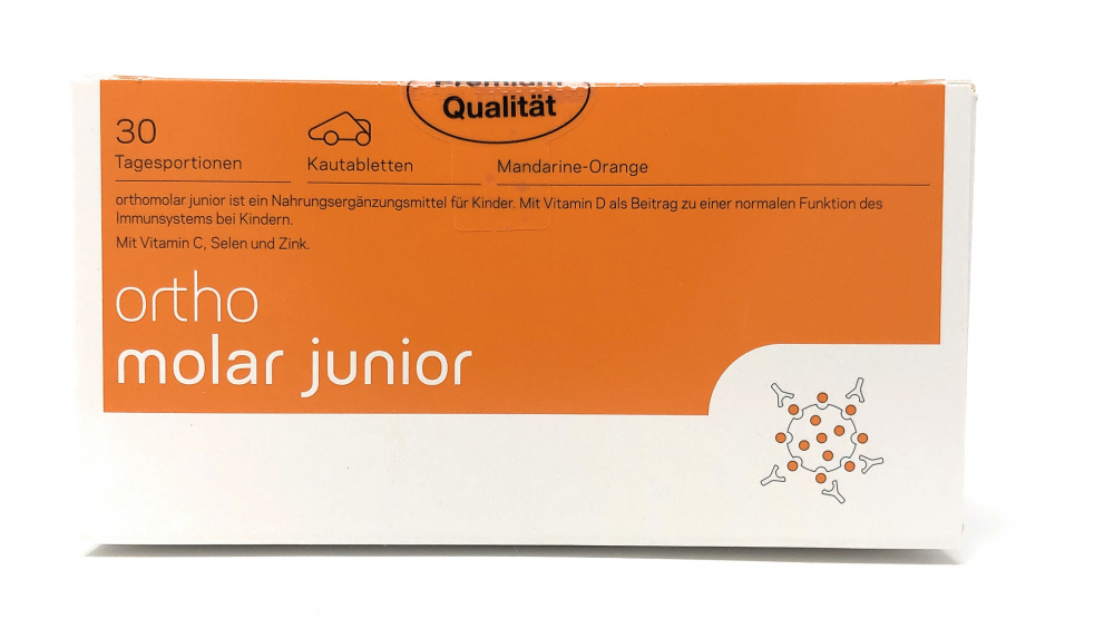 orthomed orthomolar®junior (Mandarine-Orange) 30 Tagesportionen (30x1,35g = 40,5g)