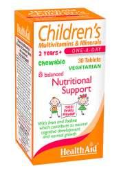 HealthAid Children MultiVitamin + Minerals (Tutty-Fruity Geschmack) 30 Kautabletten