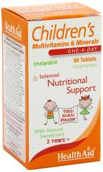 Health Aid Childrens MultiVitamin + Minerals (Tutti-fruity Flavour) 90 KauTabletten