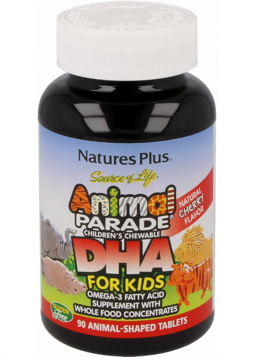 Natures Plus Source of Life® Animal Parade® DHA 90 Lutschtabletten