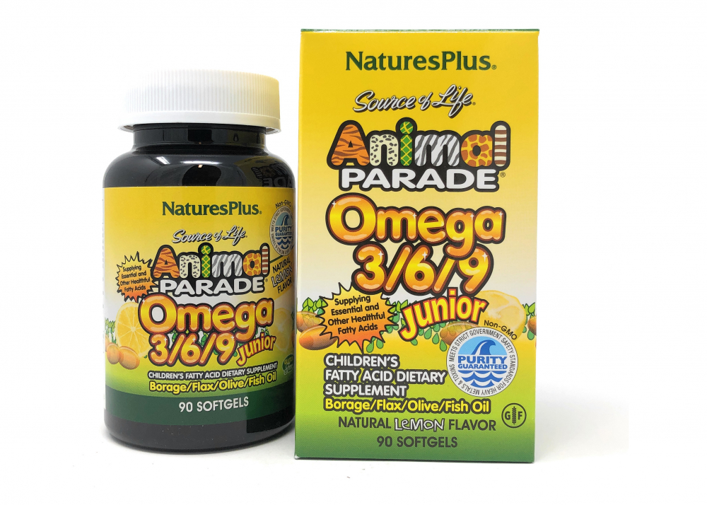 Natures Plus Animal Parade® Omega 3/6/9 Junior 90 Softgels