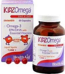 Health Aid KidzOmega One-A-Day 60 kaubare Kapseln