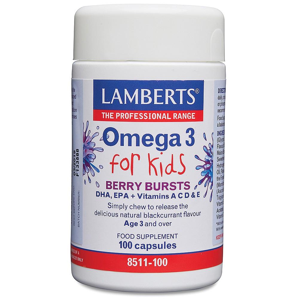 Lamberts Healthcare Ltd. Omega 3 for Kids Berry Bursts 60 Kaugels