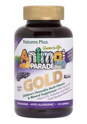 Natures Plus Source of Life® Animal Parade® GOLD Traubengeschmack 120 Kautabletten