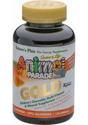Natures Plus Source of Life® Animal Parade® GOLD Orangengeschmack 120 Kautabletten (218g)