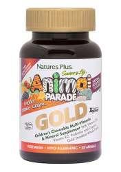 Natures Plus Source of Life® Animal Parade® GOLD Assorted (Orange,Traube,Kirsche) 60 Kautabletten (115,1g)