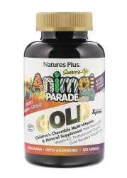 Natures Plus Source of Life® Animal Parade® GOLD Assorted (Orange,Traube,Kirsche) 120 Kautabletten (217,8g)
