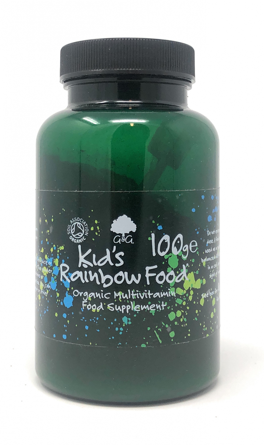 G&G Vitamins Bio Kids Rainbow Food Organic Whole Food Multivitamin 100g Pulver GB-ORG-005
