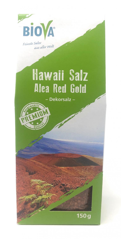 Biova Gourmetsalz Hawaii Salz rot Alea Red 1-2mm Dekorsalz 150g Faltschachtel