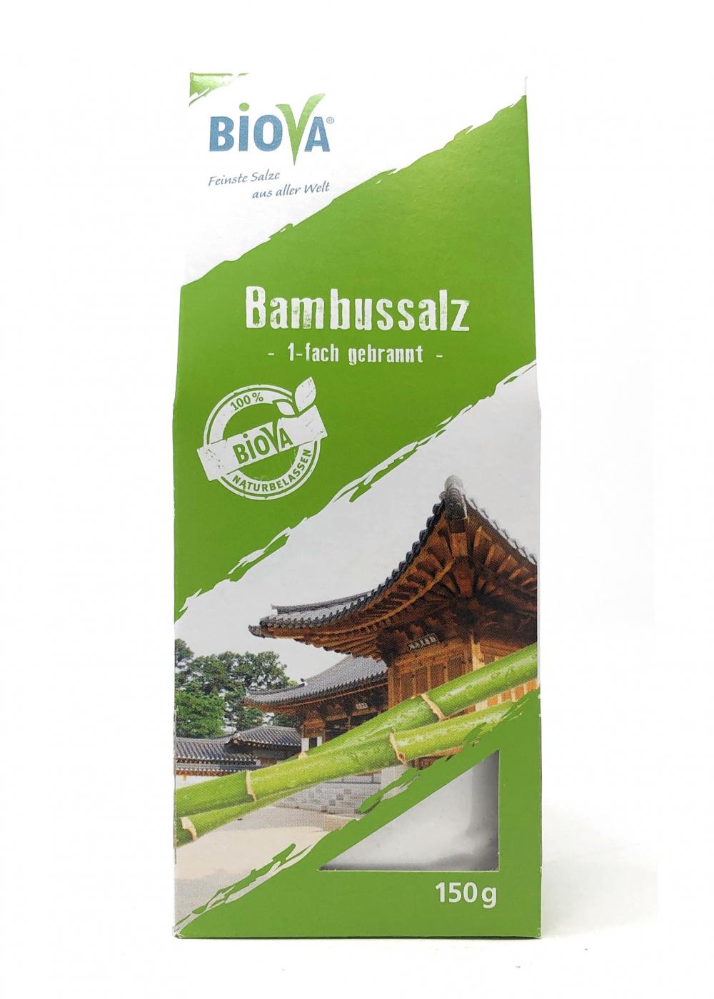 Biova Gourmetsalz Bambussalz (gebranntes Meersalz) aus Korea 150g Faltschachtel