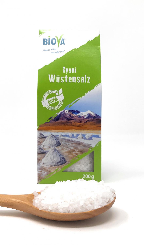 Biova Gourmetsalz Uyuni Wüstensalz 1-5mm 200g Faltschachtel