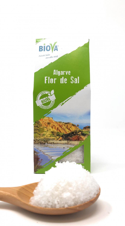 Biova Gourmetsalz Algarve Flor de Sal 0,1-1mm 150g Faltschachtel