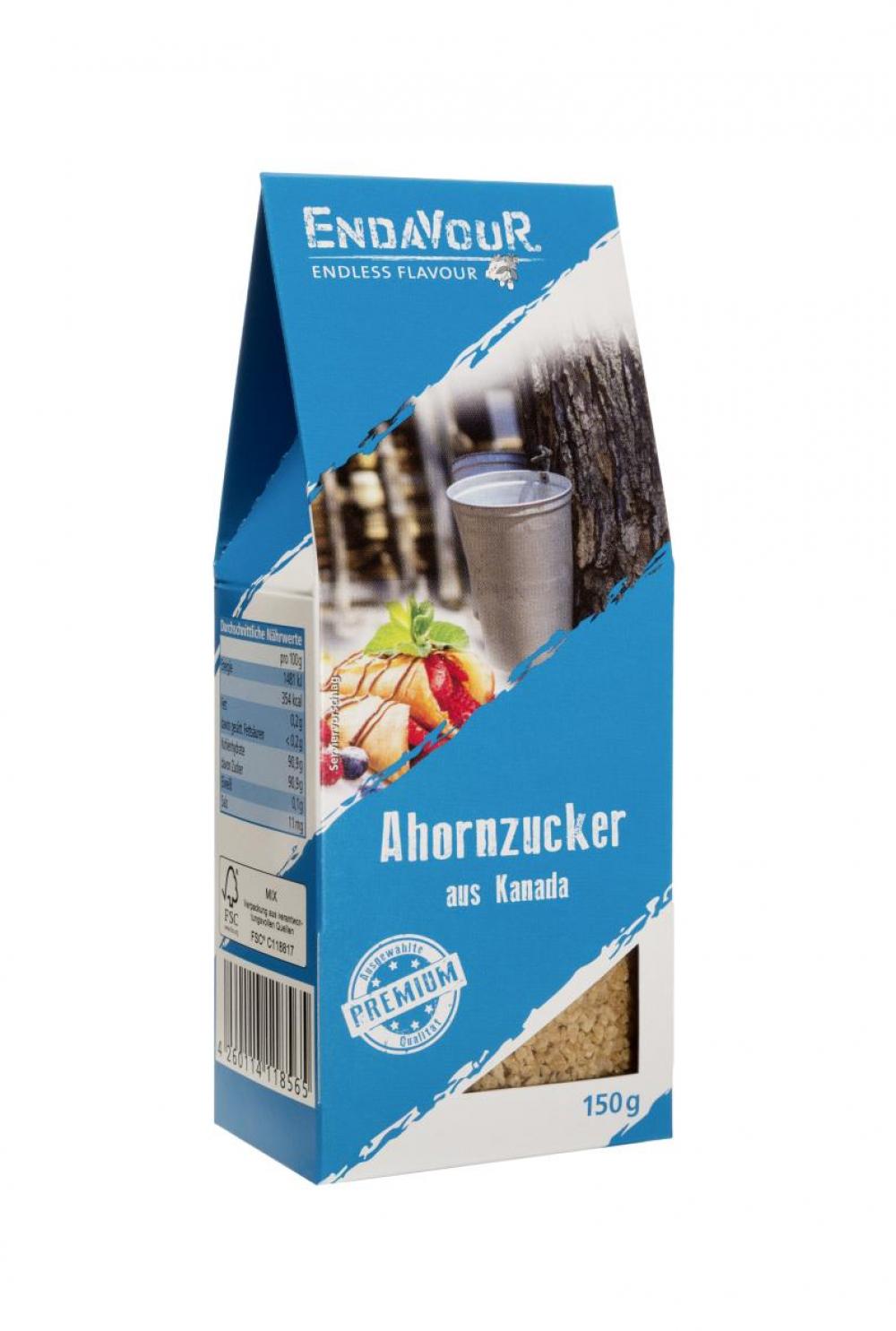 Biova Gourmetzucker Ahornzucker aus Kanada 150g Faltschachtel