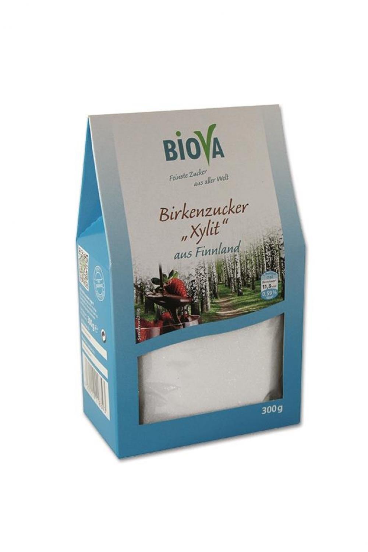 Biova Birkenzucker Xylit aus Finnland 300g Faltschachtel