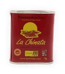 La Chinata Pimenton de la Vera picante - Geräuchertes Paprikapulver scharf extra 70 g Dose