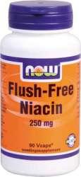NOW Foods Flush free Niacin 250 90 veg. Kapseln