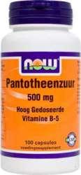 NOW Foods Pantotheenzuur 500mg [Pantothensäure] 100 Kapseln