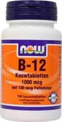 NOW Foods B-12 met 100mcg Foliumzuur 100 Lutschtabletten  (vegan)