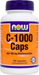 NOW Foods VITAMIN C 1000 met Bioflavonoiden 100 Kapseln