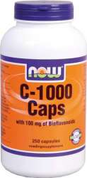 NOW Foods VITAMIN C 1000 met Bioflavonoiden 250 Kapseln
