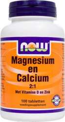 NOW Foods MAGNESIUM en CALCIUM 2-1 100 Tabletten