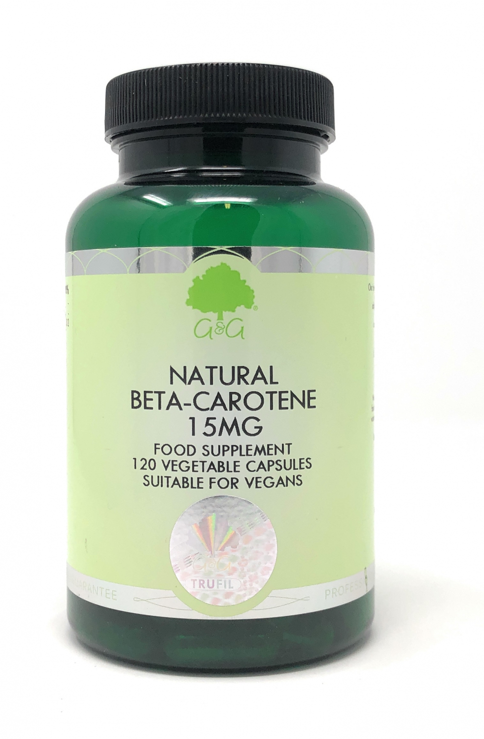 G&G Vitamins Natural Beta-Carotene 15mg 120 veg. Kapseln (47,4g) (vegan)