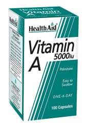 HealthAid Vitamin A 5000iu 100 Kapseln