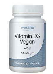 woscha Vitamin D3 vegan 400IE 90 veg. K-CAPS®