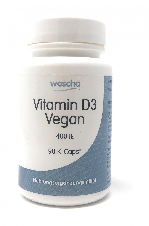 woscha Vitamin D3 vegan 400IE 90 veg. K-CAPS® (18g)