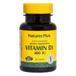 Natures Plus Vitamin D3 400 IE wasserlöslich 90 Tabletten (44,9g)