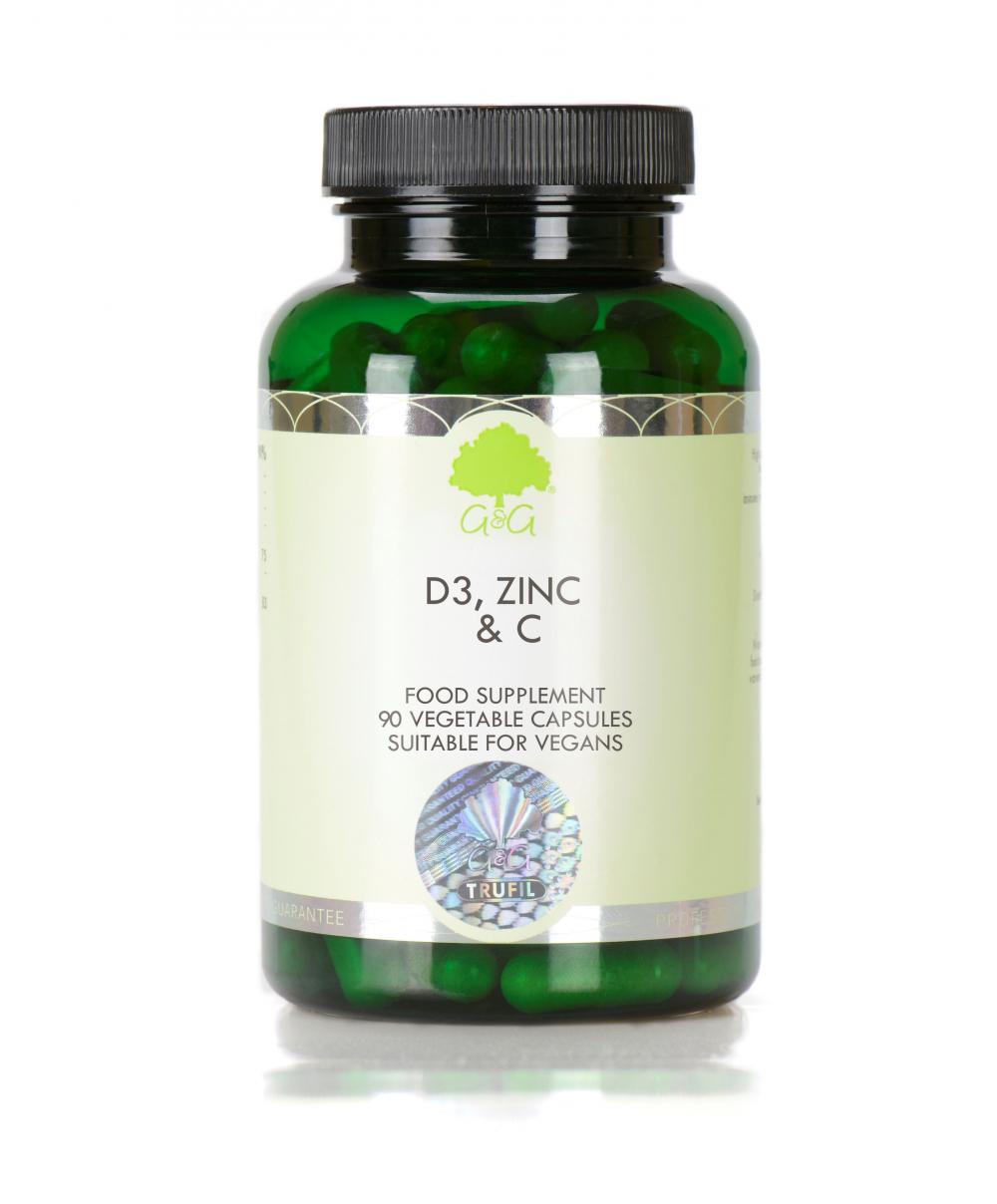 G&G Vitamins D3, Zinc, C 90 veg. Kapseln (55,2g)
