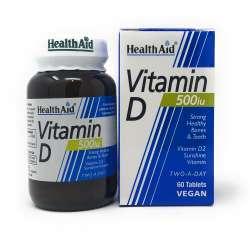 HealthAid Vitamin D 500iu (12,5mcg D2 Ergochalciferol) 60 Tabletten (vegan)