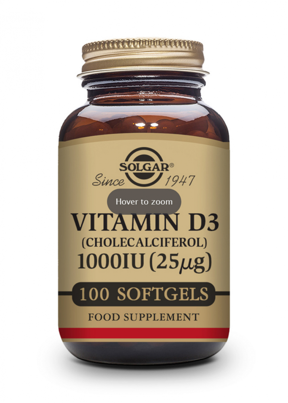 Solgar Vitamin D 25mcg (1000 IU) 100 Softgels