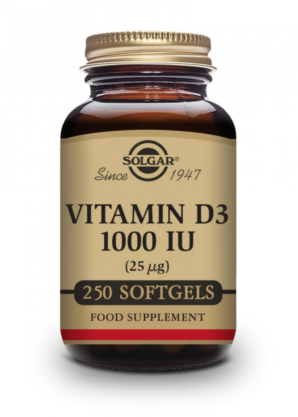 Solgar Vitamin D 25mcg (1000 IU) 250 Softgels
