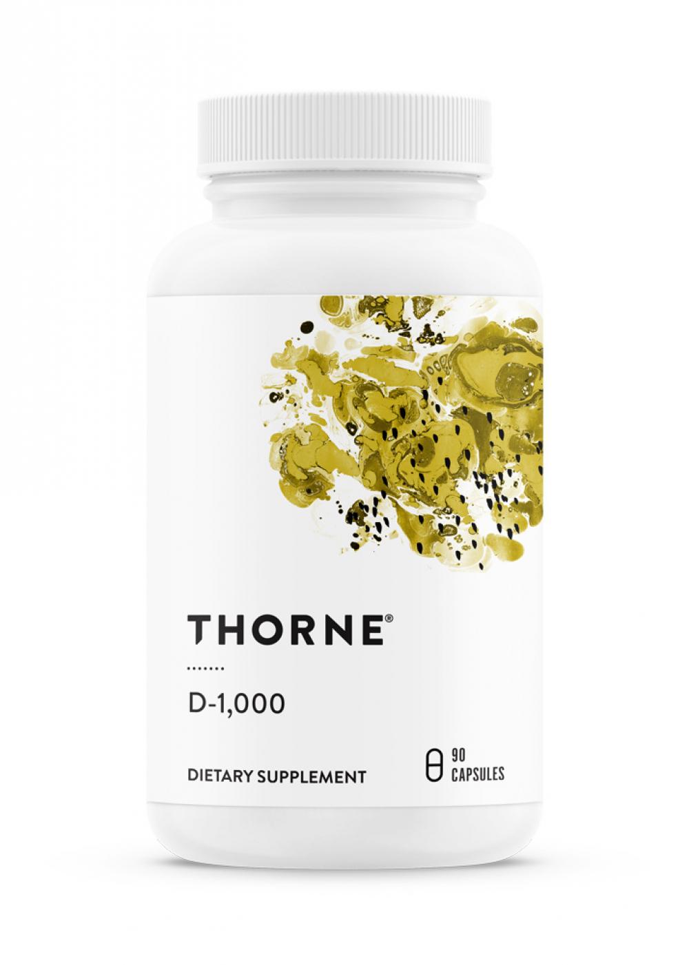 Thorne Research D-1000 (Vitamin D3) 90 veg. Kapseln (13g)