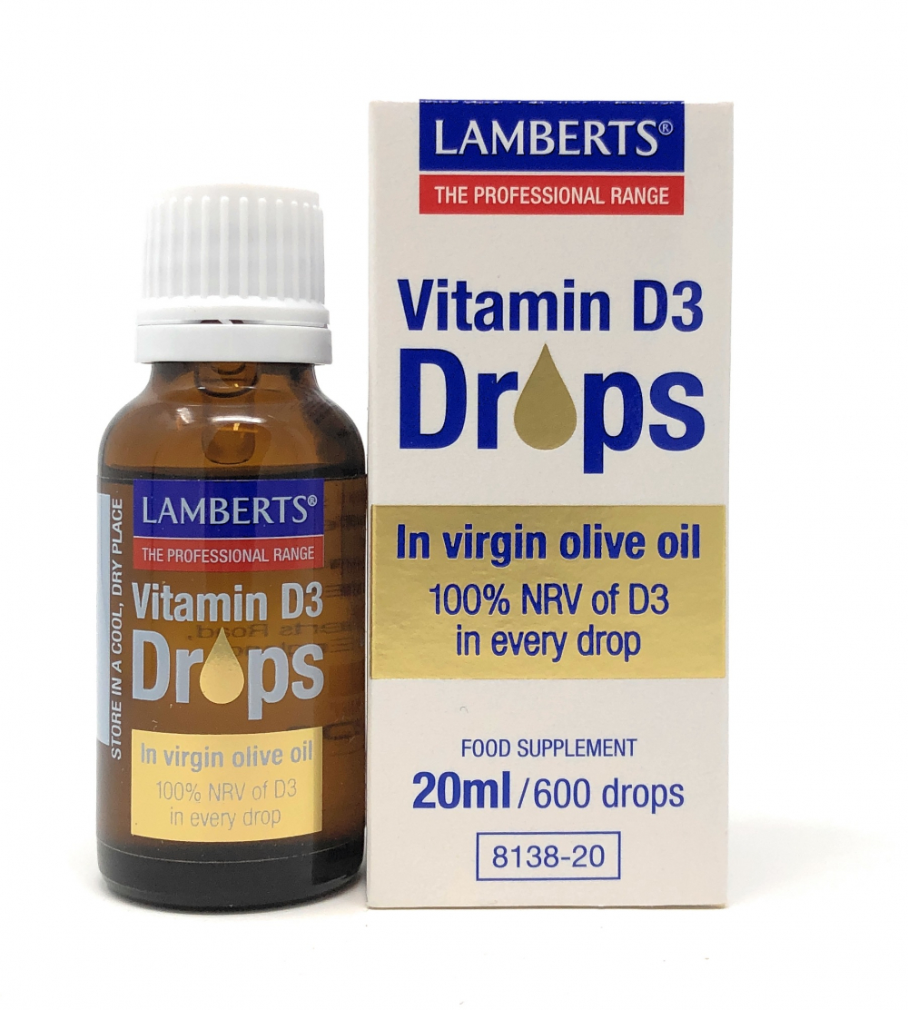 Lamberts Healthcare Ltd. Vitamin D3 Drops 20ml (600 Tropfen)