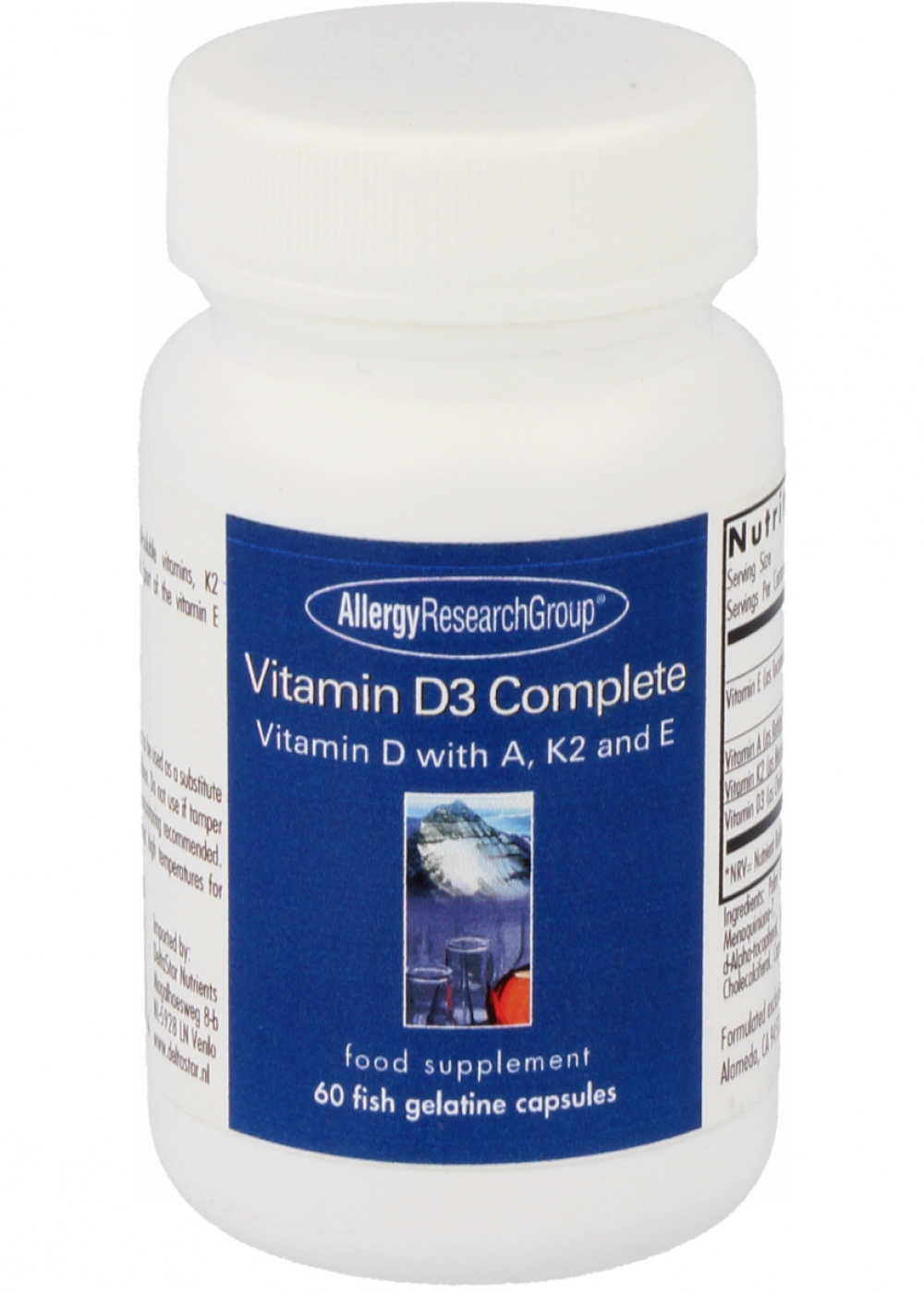 Allergy Research Group Vitamin D3 Complete 120 Fischgelatine-Kapseln