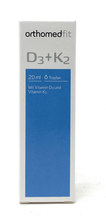 orthomed fit Vitamin D3 + K2 Tropfen 20ml