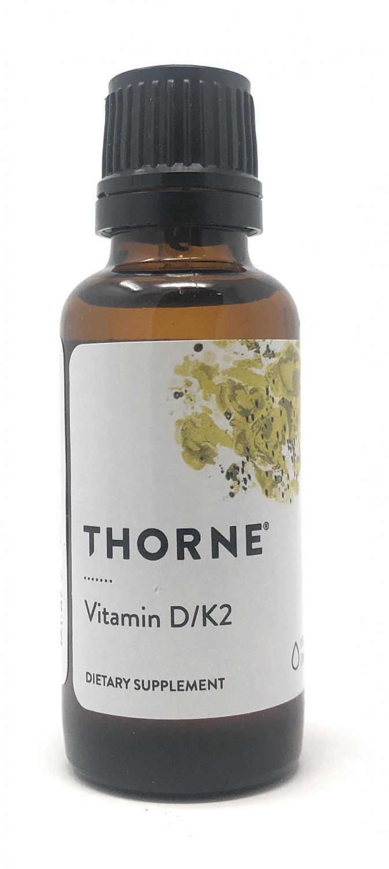 Thorne VITAMIN D/K2 flüssig 30ml Flasche TH