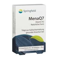 Springfield Nutraceuticals MenaQ7 Vitamin K2 Menaquinon-7 45 mcg 60 Tabletten (26g)