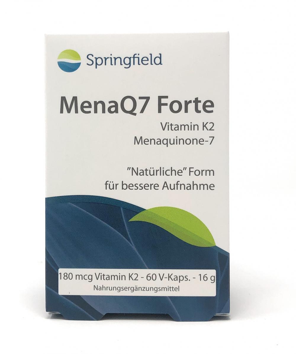 Springfield Nutraceuticals MenaQ7 Forte Vitamin K2 Menaquinon-7 180 mcg 60 V-Kapseln (20g)