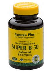 Natures Plus Super B-50 Vitamin B-Komplex 90 veg. Kapseln (67,9g)