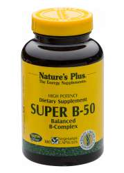 Natures Plus Super B-50 Vitamin B-Komplex 180 veg. Kapseln (129,3g)